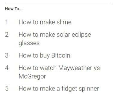 How To-Google Ternds